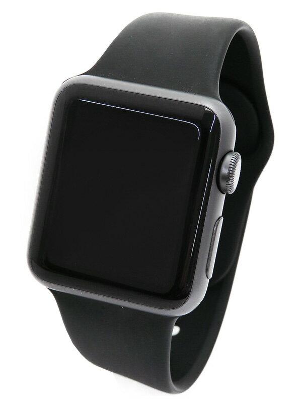 【Apple】【アップルウォッチ】アップル『Apple Watch Series 1 38mm スペースグレイアルミニウム』MP022J/A ボーイズ ウェアラブル端末 1週間保証【中古】
