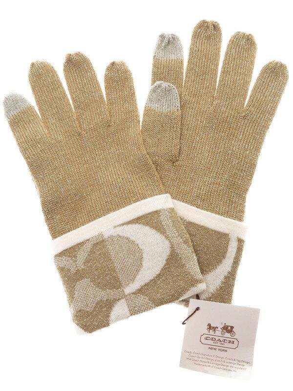 【COACH】コーチ『ラメ入りグローブ sizeO/S』レディース 手袋 1週間保証【中古】