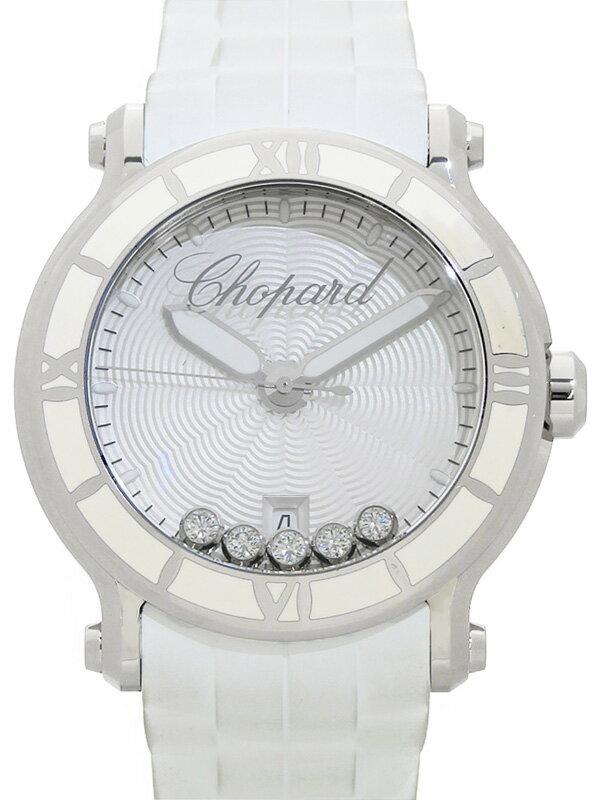 【Chopard】【電池交換済】ショパール『ハッピースポーツ 5Pダイヤ』288525-3002 メンズ クォーツ 3ヶ月保証【中古】