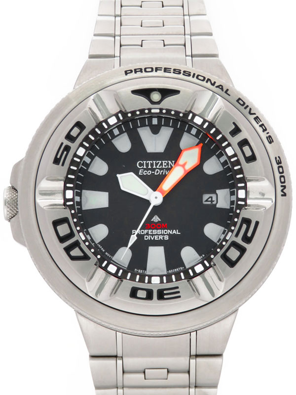 【CITIZEN】シチズン『エコドライブ プロフェッショナル ダイバーズ 300』BJ8050-59E メンズ ソーラークォーツ 1週間保証【中古】