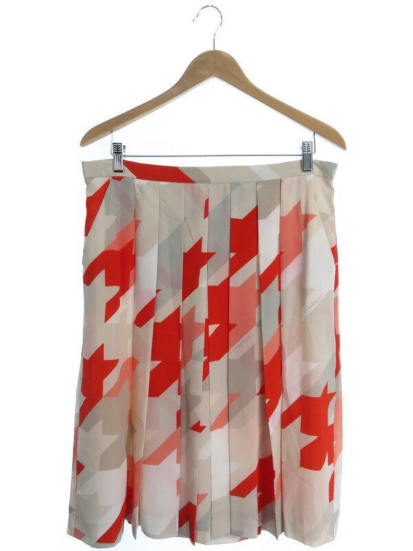 【Salvatore Ferragamo】【ボトムス】フェラガモ『シルクスカート size48』レディース 1週間保証【中古】