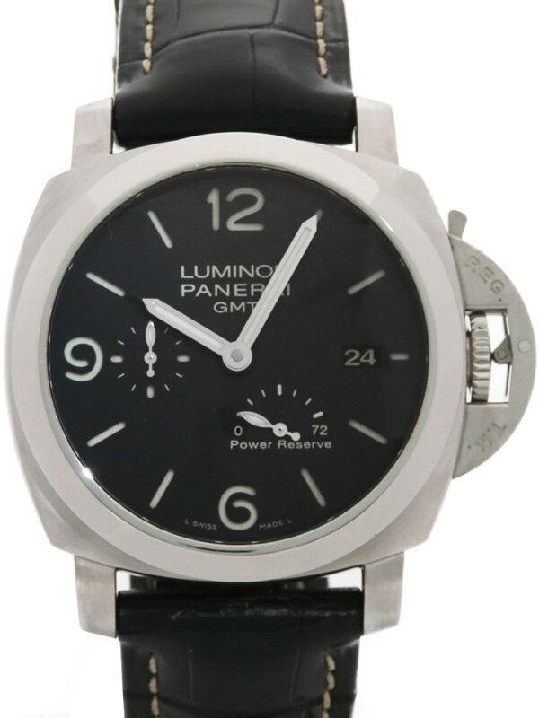【PANERAI】【裏スケ】パネライ『ルミノールマリーナ1950 3デイズ GMT』PAM00321 L番'09年製 メンズ 自動巻き 6ヶ月保証【中古】