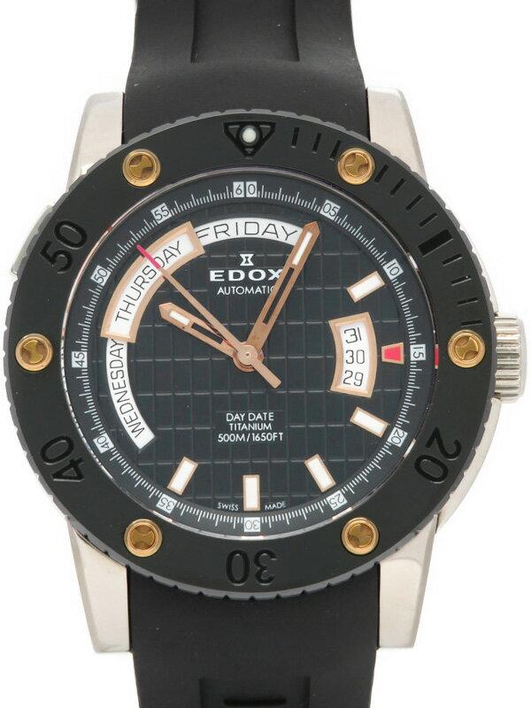 【EDOX】【内部点検済】エドックス『クロノオフショア1 デイデイト オートマチック』83005-TINR-NIR メンズ 自動巻き 1ヶ月保証【中古】