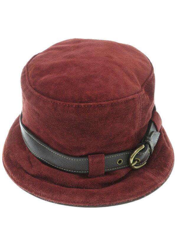 【COACH】コーチ『スウェードハット size M/L』レディース 帽子 1週間保証【中古】