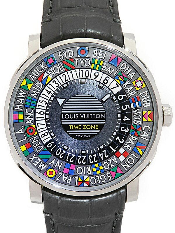 【LOUIS VUITTON】ルイヴィトン『エスカル タイムゾーン』Q5D20 メンズ 自動巻き 1ヶ月保証【中古】