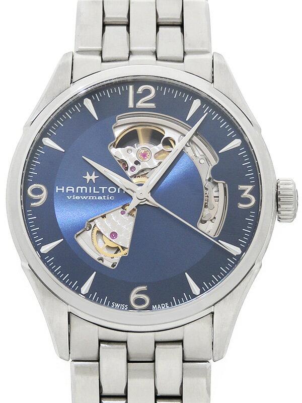 【HAMILTON】【裏スケ】【'18年購入】ハミルトン『ジャズマスター ビューマチック オープンハート』H32705141 メンズ 自動巻き 1ヶ月保証【中古】