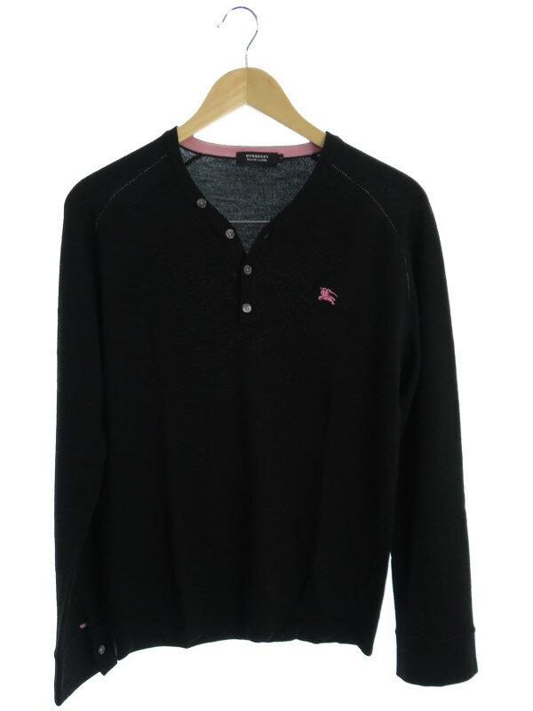 【BURBERRY BLACK LABEL】【トップス】バーバリーブラックレーベル『長袖ニット size3』メンズ セーター 1週間保証【中古】