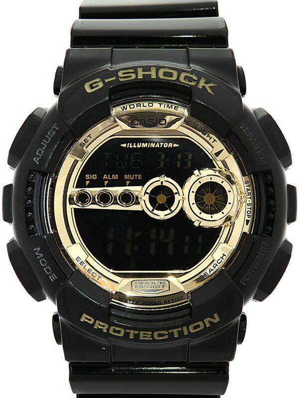 【CASIO】【G-SHOCK】カシオ『Gショック ブラック×ゴールドシリーズ』GD-100GB-1JF メンズ クォーツ 1週間保証【中古】