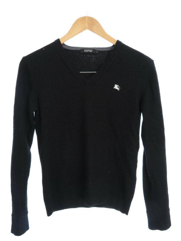 【BURBERRY BLACK LEBEL】【トップス】バーバリーブラックレーベル『Vネック長袖ウールセーター size2』メンズ 1週間保証【中古】