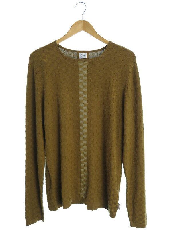 【ARMANI COLLEZIONI】【トップス】アルマーニコレッツォーニ『長袖ニット size48』メンズ セーター 1週間保証【中古】