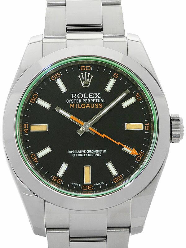 【ROLEX】ロレックス『ミルガウス グリーンガラス』116400GV ランダム番 メンズ 自動巻き 12ヶ月保証【中古】