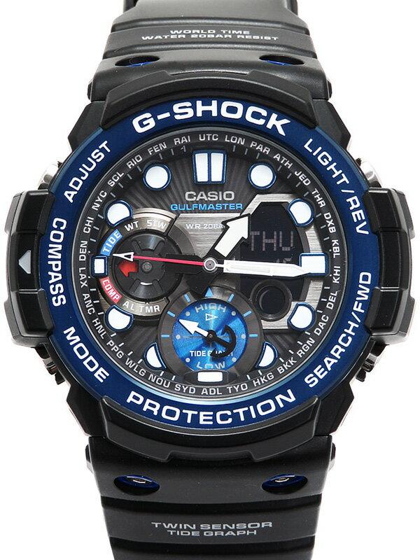 【CASIO】【G-SHOCK】【美品】【'18年購入】カシオ『Gショック ガルフマスター』GN-1000B-1AJF メンズ クォーツ 1週間保証【中古】