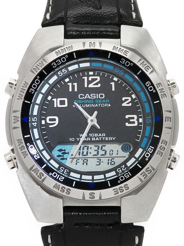 【CASIO】【チープカシオ】カシオ『スタンダード フィッシングタイム機能搭載モデル』AMW-700B-1AJF メンズ クォーツ 1週間保証【中古】