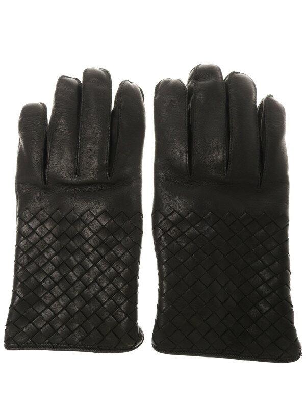 【BOTTEGA VENETA】ボッテガヴェネタ『レザーグローブ size80』メンズ 手袋 1週間保証【中古】