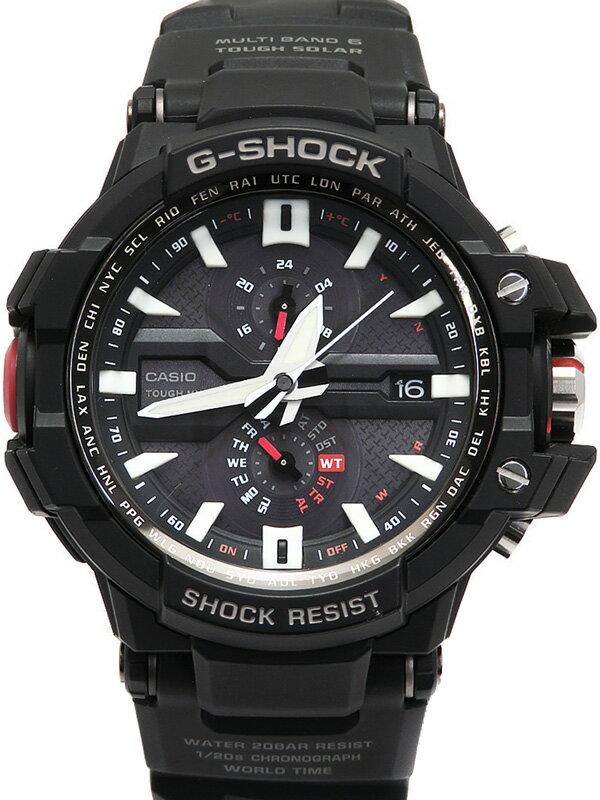 【CASIO】【G-SHOCK】【'18年購入】カシオ『Gショック スカイコックピット』GW-A1000-1AJF メンズ ソーラー電波クォーツ 1週間保証【中古】