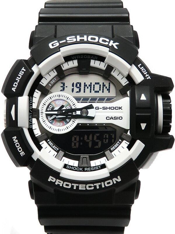 【CASIO】【G-SHOCK】【'17年購入】カシオ『Gショック ハイパーカラーズ』GA-400-1AJF メンズ クォーツ 1週間保証【中古】