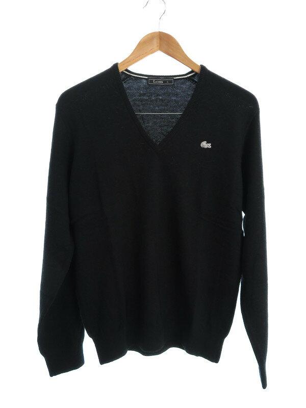 【LACOSTE】【トップス】ラコステ『Vネック長袖ニット size3』メンズ セーター 1週間保証【中古】