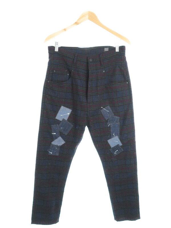 【DANIELE ALESSANDRINI】【ボトムス】ダニエレアレッサンドリーニ『ウール混チェック柄パンツ size32』メンズ ズボン 1週間保証【中古】