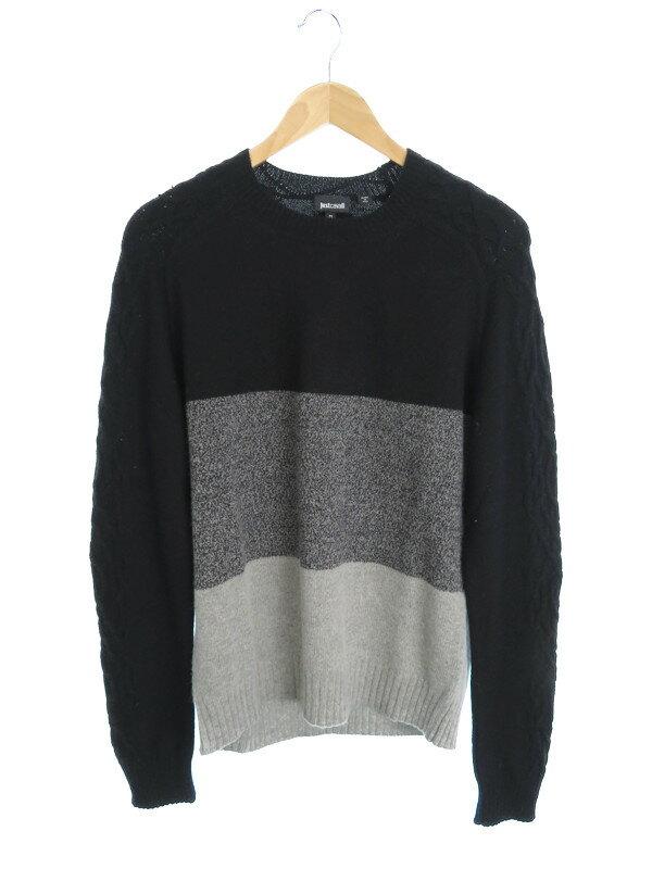 【JUSTcavalli】【トップス】ジャストカヴァリ『長袖セーター sizeM』メンズ ニット 1週間保証【中古】