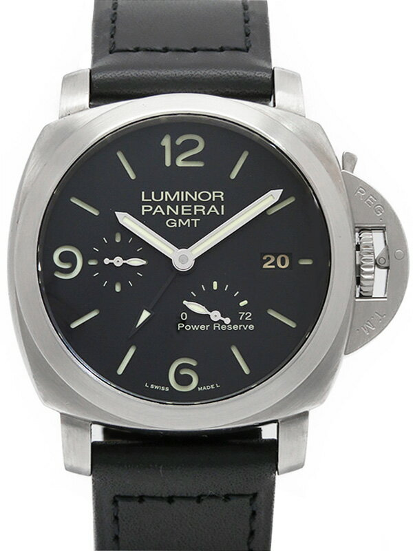 【PANERAI】【裏スケ】パネライ『ルミノールマリーナ1950 3デイズ GMT』PAM00321 O番'12年製 メンズ 自動巻き 6ヶ月保証【中古】