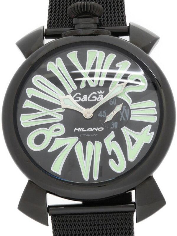 【GaGa MILANO】ガガミラノ『マヌアーレスリム 46mm』5082.2 メンズ クォーツ 1週間保証【中古】