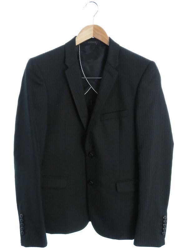 【MONSIEUR NICOLE】【上下セット】ムッシュニコル『ストライプ柄 シングルスーツ上下 size44』メンズ セットアップ 1週間保証【中古】