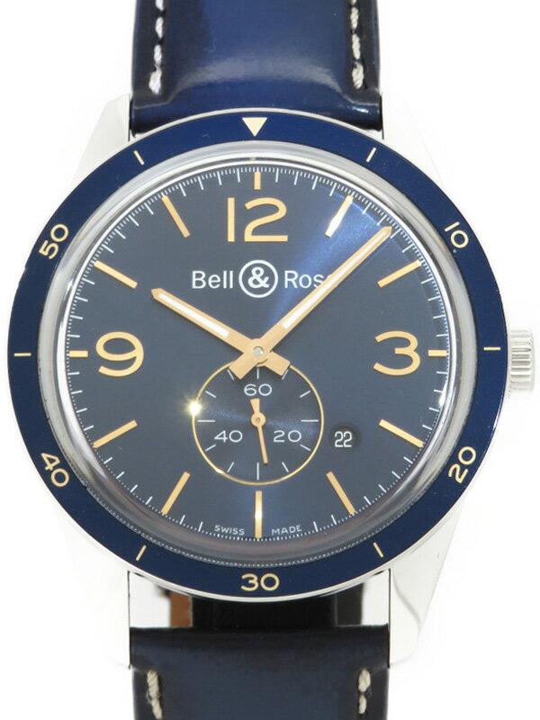 【Bell&Ross】【裏スケ】【'17年購入】ベルアンドロス『ヴィンテージ アエロナバル』BRV123-BLU-ST/SCA メンズ 自動巻き 3ヶ月保証【中古】