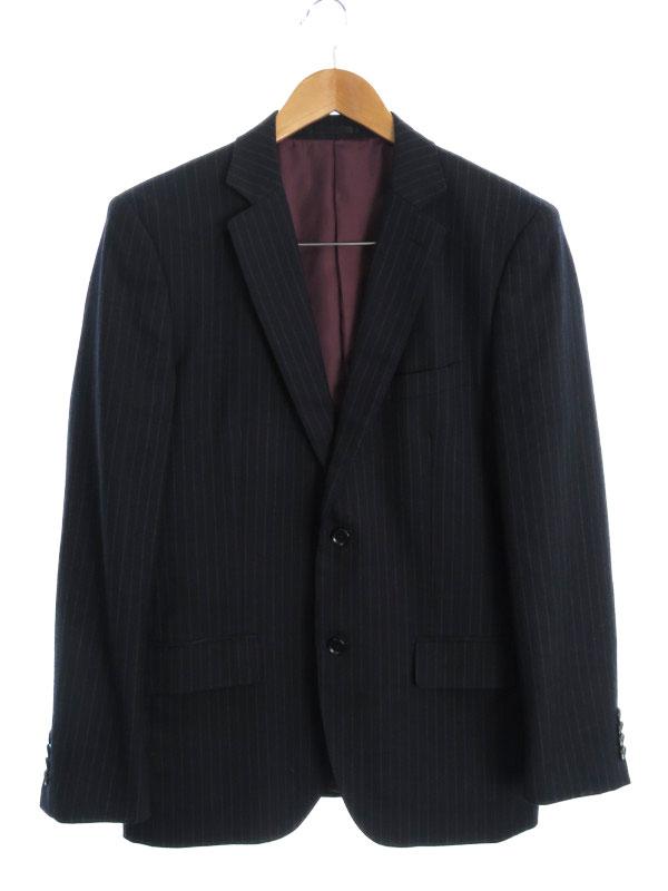 【THE SHOP TKMIXPICE】【上下セット】ザショップTKミクスパイス『ストライプ柄スーツ sizeL』メンズ セットアップ 1週間保証【中古】