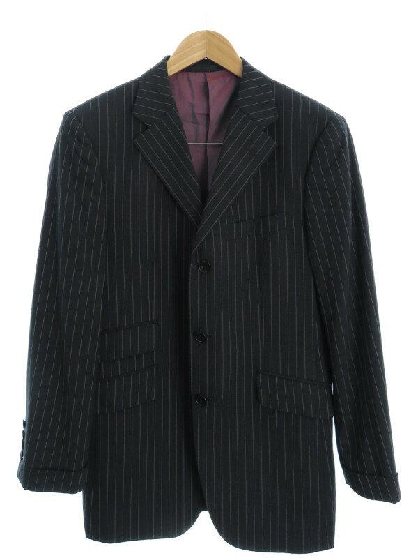 【BURBERRY BLACK LABEL】【2ピース】【セットアップ】バーバリーブラックレーベル『ストライプ柄 スーツ上下セット size38R』メンズ 1週間保証【中古】