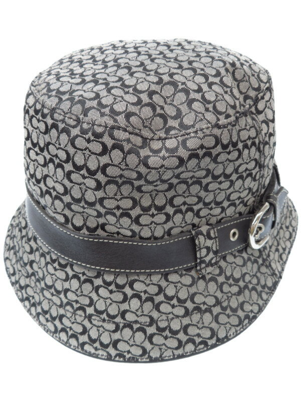 【COACH】コーチ『シグネチャー柄ハット size P/S』レディース 帽子 1週間保証【中古】