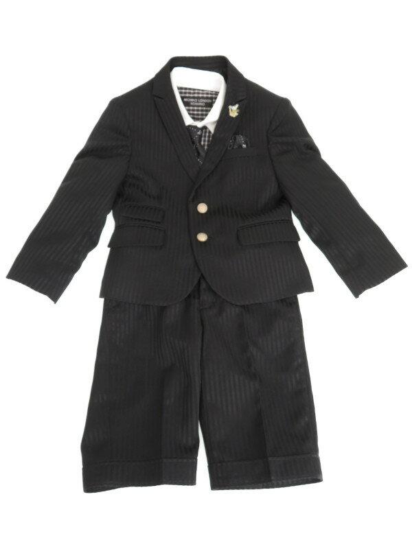 【MICHIKO LONDON KOSHINO】【キッズ】【男の子】【3ピース】ミチコロンドンコシノ『セットアップスーツ size110』メンズ 1週間保証【中古】