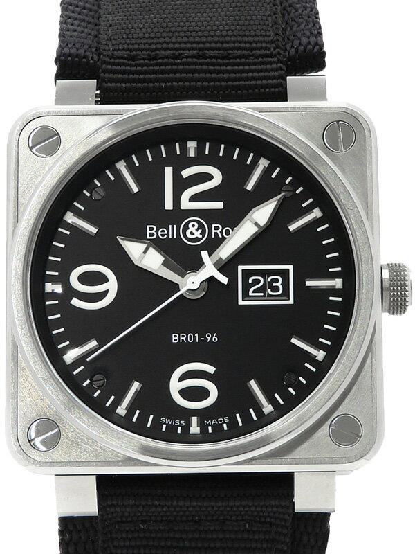 【Bell&Ross】ベルアンドロス『BR01-96 ビッグデイト』BR01-96B-CA メンズ 自動巻き 3ヶ月保証【中古】