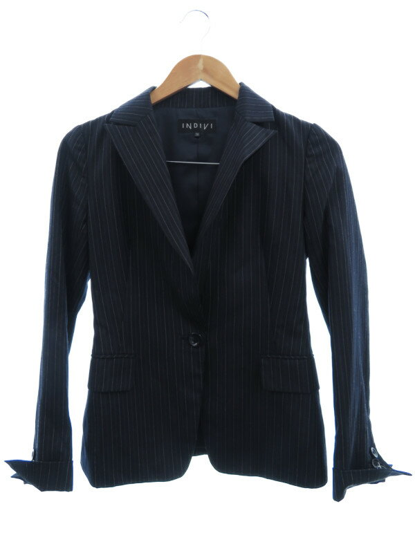 【INDIVI】【3ピース上下セット】【3ピース】インディビ『3ピーススーツ size36』レディース スカート・パンツスーツ 1週間保証【中古】