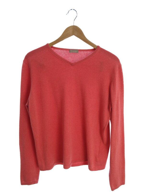 【CRUCIANI】【トップス】クルチアーニ『コットン長袖ニット size46』メンズ セーター 1週間保証【中古】