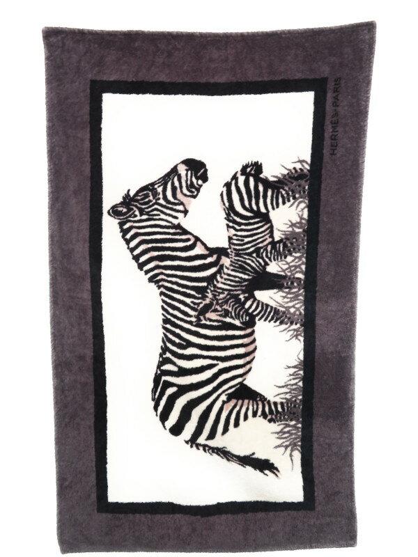 【HERMES】エルメス『シマウマ柄 ビーチタオル』ユニセックス 1週間保証【中古】