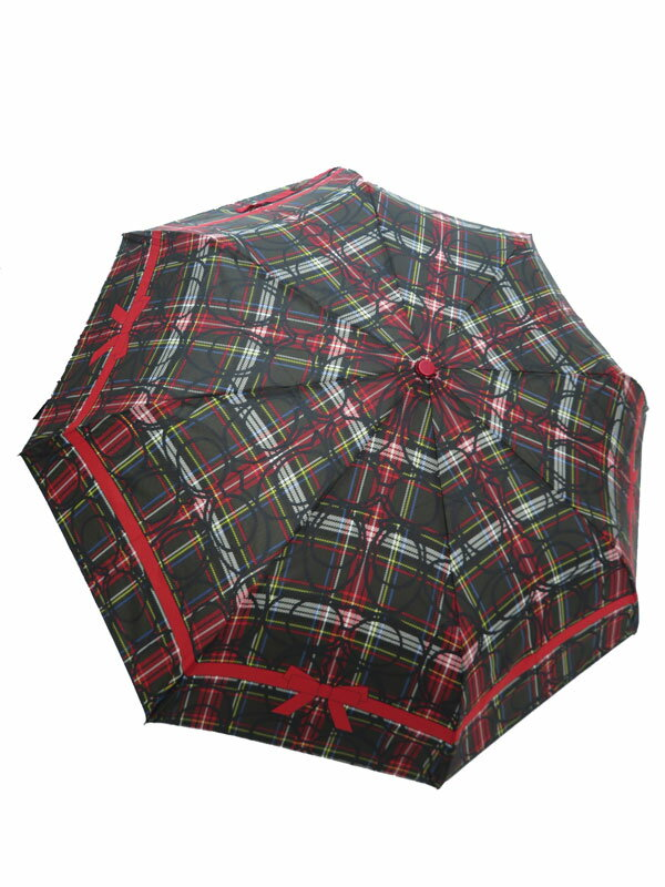 【COACH】【雨傘】コーチ『チェック柄折り畳み傘』レディース アンブレラ 1週間保証【中古】
