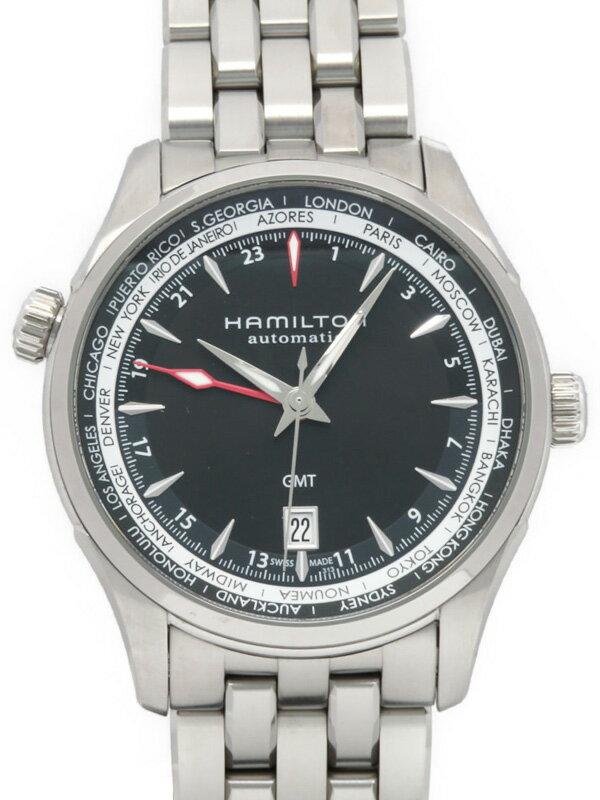 【HAMILTON】【裏スケ】ハミルトン『ジャズマスター GMT』H32695131 メンズ 自動巻き 1ヶ月保証【中古】