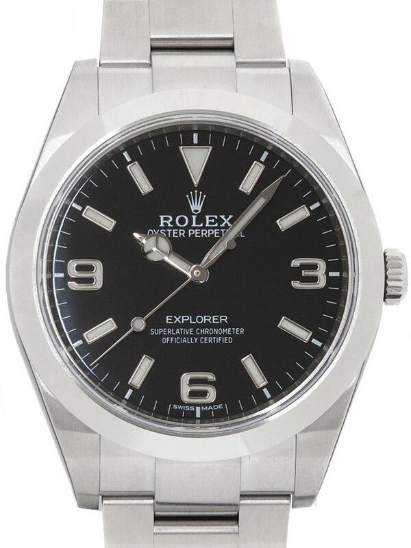【ROLEX】【'17年購入】【美品】ロレックス『エクスプローラー1』214270 ランダム番 メンズ 自動巻き 12ヶ月保証【中古】