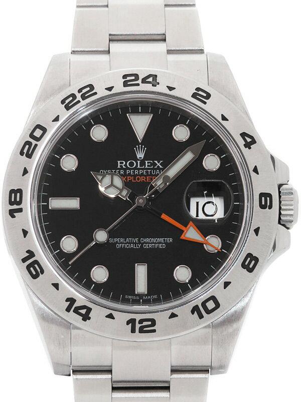 【ROLEX】【'14年購入】ロレックス『エクスプローラー2』216570 ランダム番 メンズ 自動巻き 12ヶ月保証【中古】