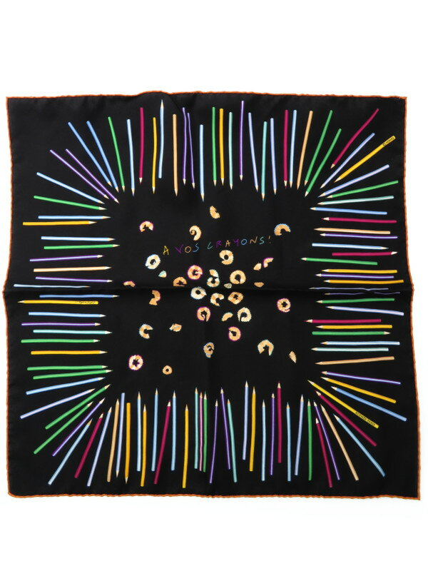 【HERMES】【A VOS CRAYONS】エルメス『カレ45 さあ色鉛筆を出して』レディース スカーフ 1週間保証【中古】