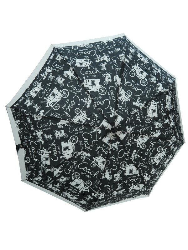 【COACH】【アンブレラ】コーチ『ジャンプ式折りたたみ傘』レディース 1週間保証【中古】
