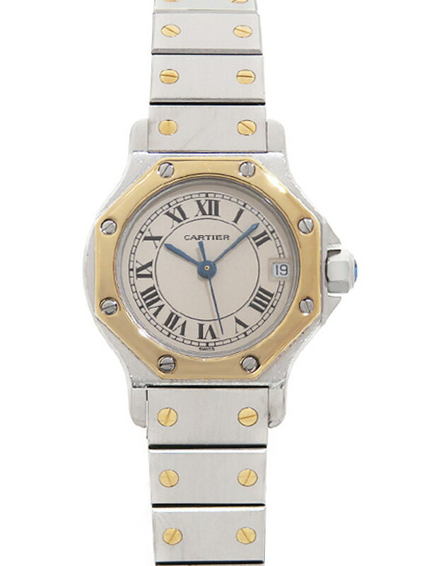 【Cartier】【OH・電池交換済】カルティエ『サントスオクタゴン』W2001683 ボーイズ クォーツ 1ヶ月保証【中古】