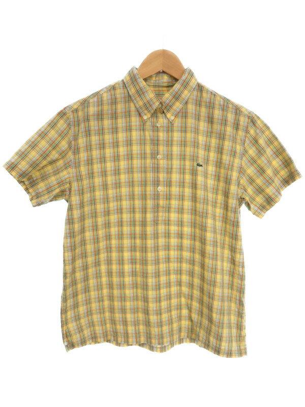 【LACOSTE】【ハーフボタン】【トップス】ラコステ『半袖 ボタンダウンシャツ size42』レディース 1週間保証【中古】