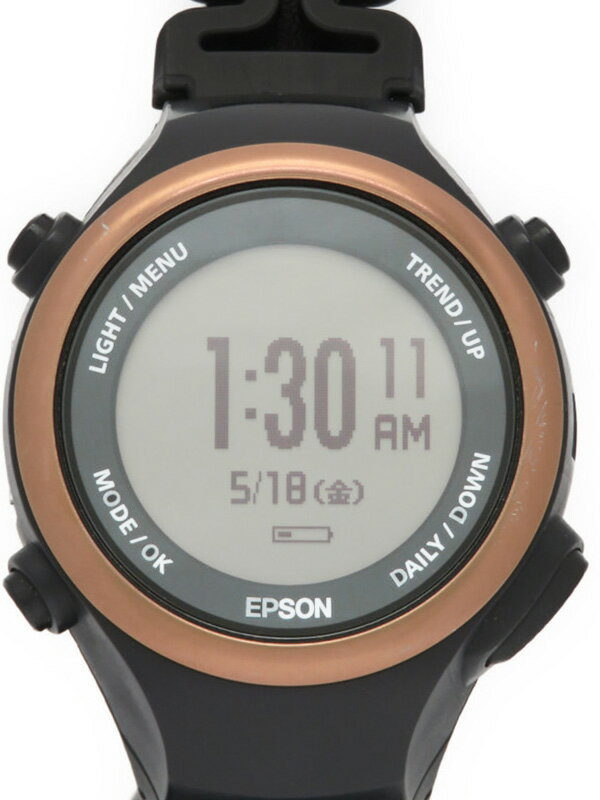 【EPSON】【PULSENSE】【スマートウォッチ】エプソン『パルセンス』PS-600C メンズ スマートウォッチ 1週間保証【中古】