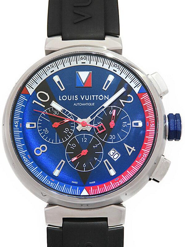 【LOUIS VUITTON】ルイヴィトン『タンブール レガッタ クロノグラフ』Q1A61 メンズ 自動巻き 6ヶ月保証【中古】