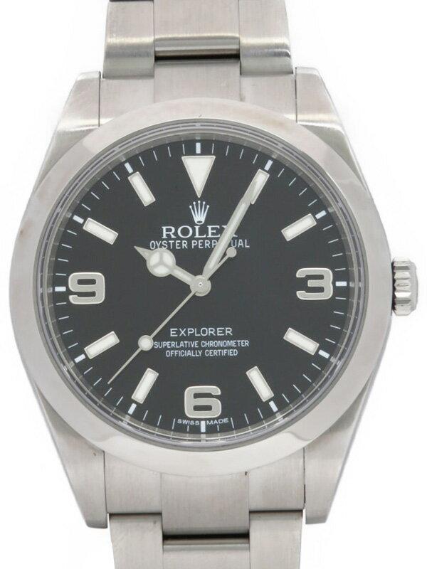 【ROLEX】【'14年購入】ロレックス『エクスプローラー1』214270 ランダム番 メンズ 自動巻き 12ヶ月保証【中古】