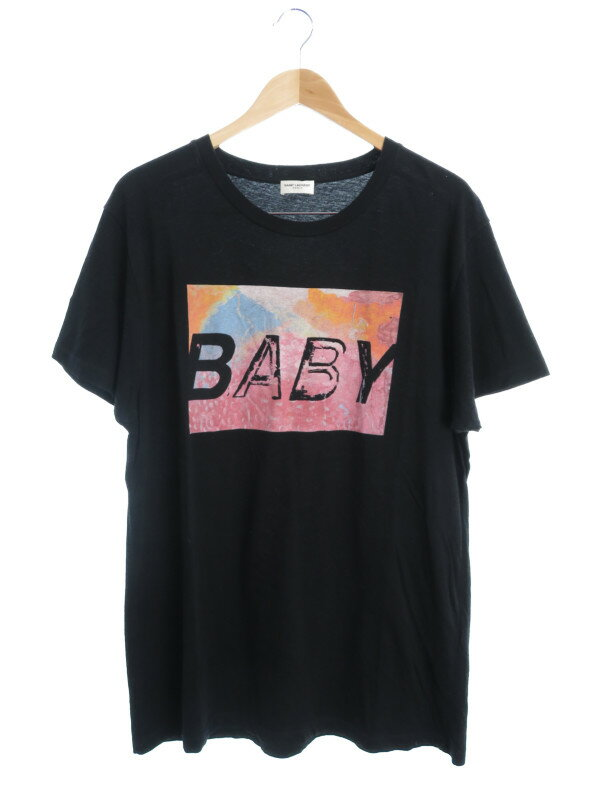 【SAINT LAURENT】【トップス】サンローラン『コットン半袖Tシャツ sizeXL』メンズ カットソー 1週間保証【中古】