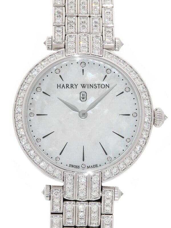 【HARRY WINSTON】【WG】【電池交換・仕上済】ハリーウィンストン『プルミエール 31mm 全面ダイヤ』PRNQHM31WW004 レディース クォーツ 6ヶ月保証【中古】