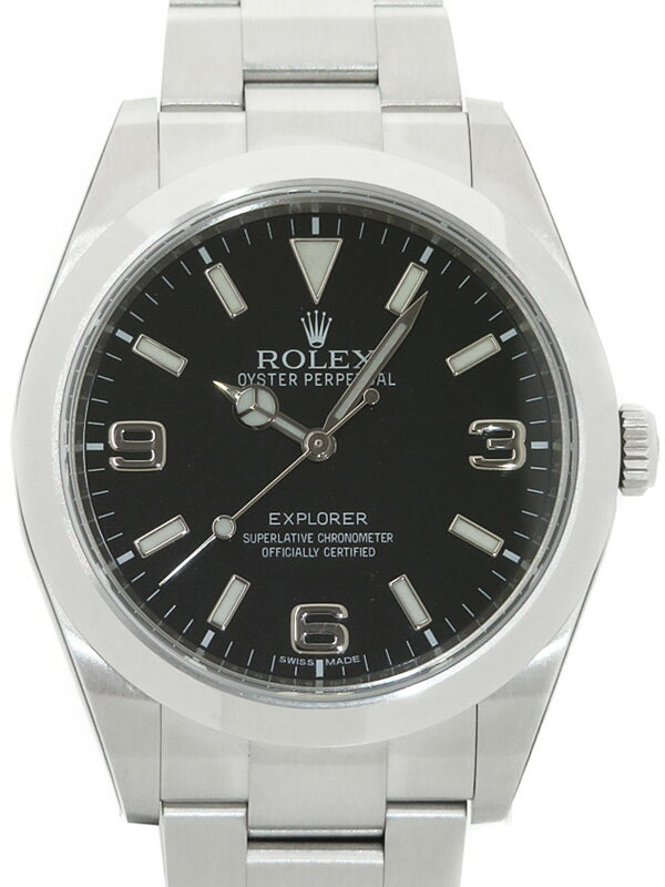 【ROLEX】【'16年購入】ロレックス『エクスプローラー1』214270 ランダム番 メンズ 自動巻き 12ヶ月保証【中古】