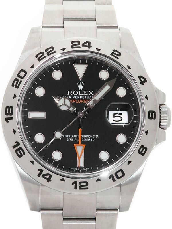 【ROLEX】【'17年購入】ロレックス『エクスプローラー2』216570 ランダム番 メンズ 自動巻き 12ヶ月保証【中古】